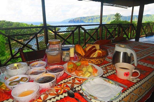 Pension Kanahau chez Tania Hiva Oa Marquesas Islands French Polynesia breakfast