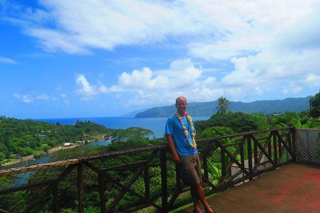Pension Kanahau chez Tania Hiva Oa Marquesas Islands French Polynesia terrace