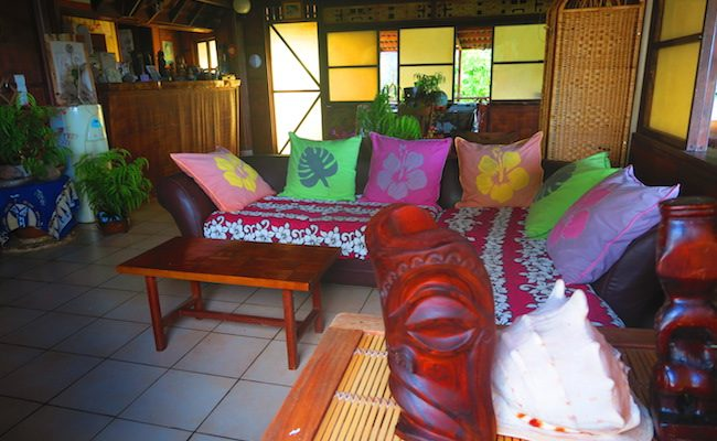Pension Kanahau chez Tania Hiva Oa Marquesas Islands - common area