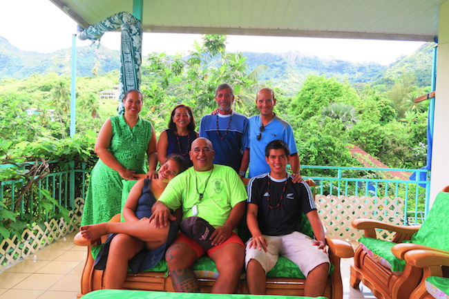 Pension Koku'u with guests Nuku Hiva Marquesas Islands French Polynesia