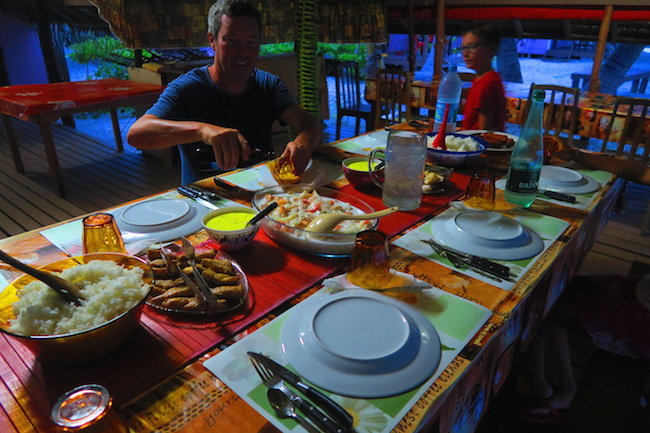 Pension Teina et Marie Rangiroa French Polynesia dinner