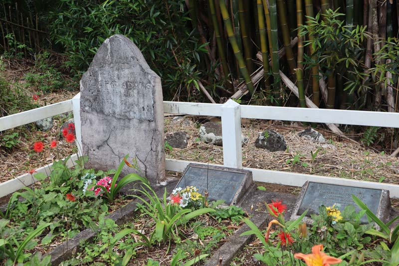 Pitcairn Island - John Adams grave