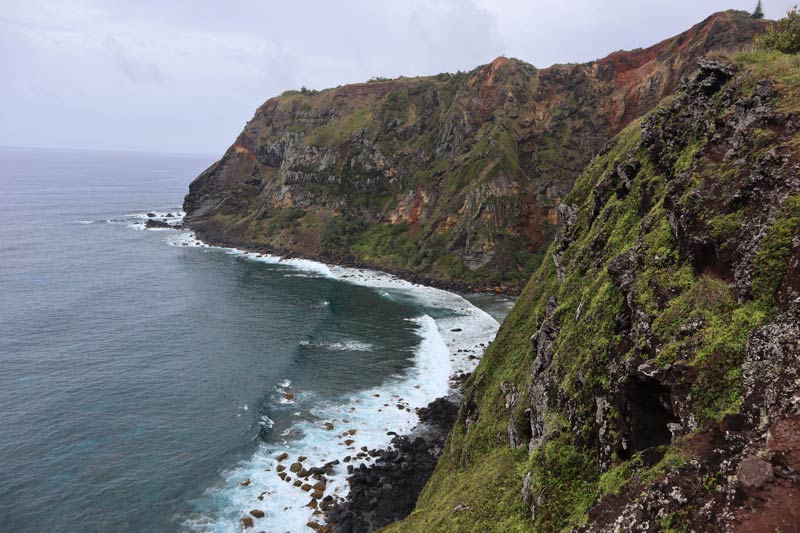 Pitcairn Island - down rope beach