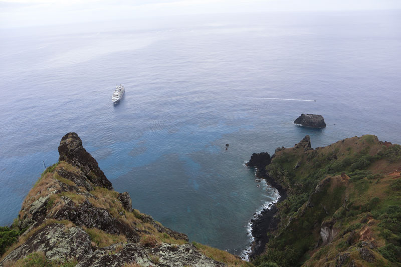 Pitcairn Island - ships landing point