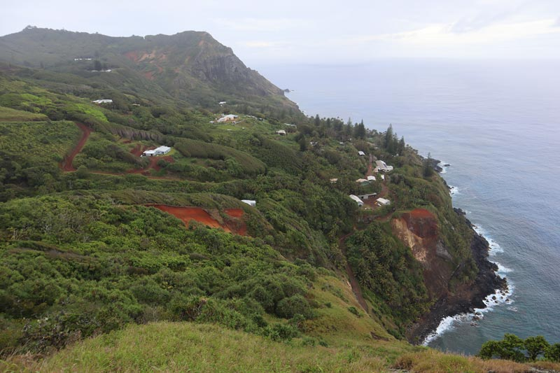 Pitcairn Island - view of adamstown