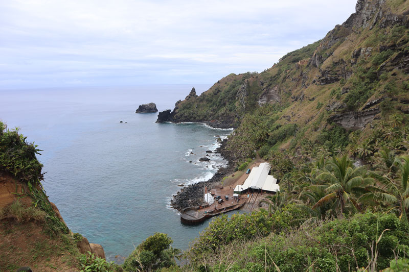 Pitcairn Island - view of landing area