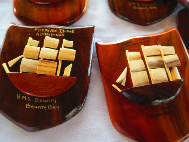 Pitcairn island crafts - bounty model