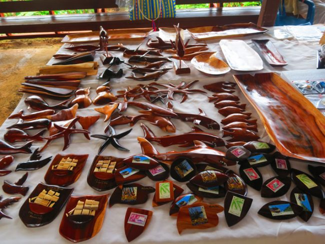 Pitcairn island crafts - wood carvings