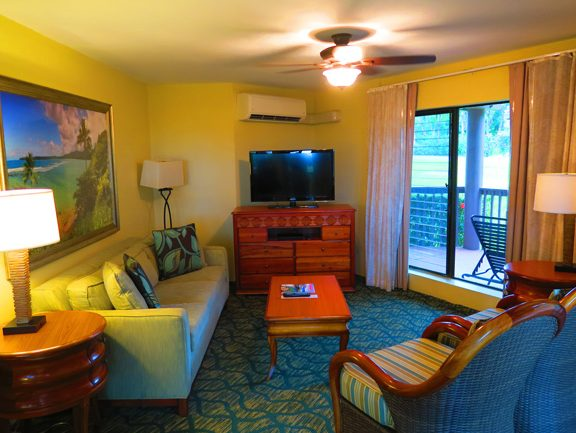 Princeville Kauai accommodation - Wyndham Ka 'Eo Kai Hawaii - living room