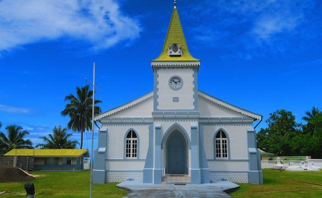 Protestant church Moorea French Polynesia