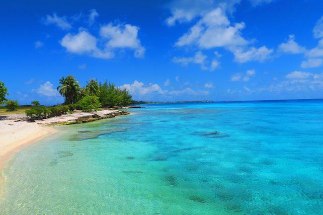 Public beach in Rangiroa French Polynesia