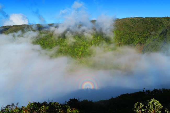 Rainbows in Waikulu Lookout - Molokai Hawaii