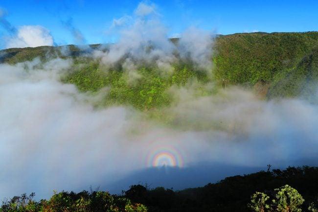 Rainbows in Waikulu Lookout - Molokai Hawaii