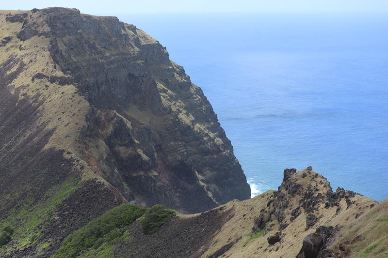 Rano Kau crater wall - Easter Island
