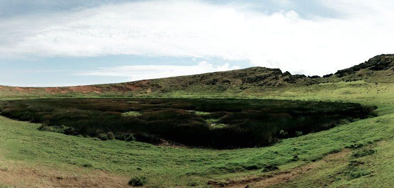 Rano Raraku crater lake - Easter Island