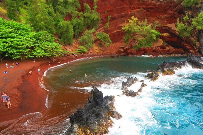 Red Sand Beach - Maui - Hawaii