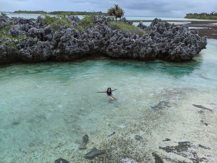Reef Island ile aux recifs Rangiroa French Polynesia