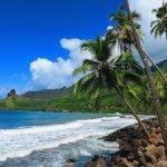 Road trip Hiva Oa Marquesas Islands French Polynesia Eiaone Bay