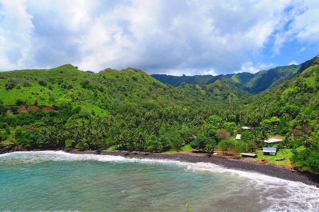 Road trip Hiva Oa Marquesas Islands French Polynesia Motuua Bay