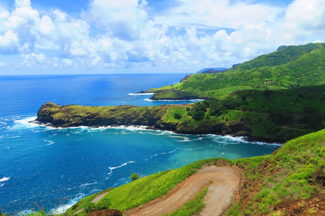 Road trip Hiva Oa Marquesas Islands French Polynesia wild coastline