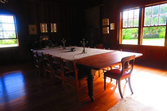 Robert Louis Stevenson Museum Apia Samoa - dining room