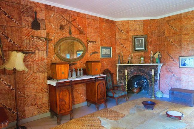 Robert Louis Stevenson Museum Apia Samoa - fireplace