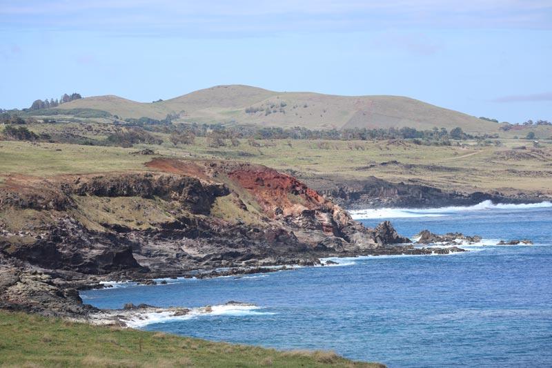 Rugged coastline from Ahu Vinapu - Easter Island