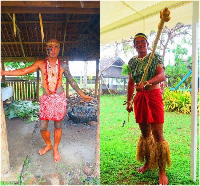 Samoa Cultural Village tour Apia - guides