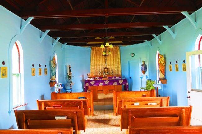 Small church in Kalaupapa Leprosy Colony - Molokai Hawaii