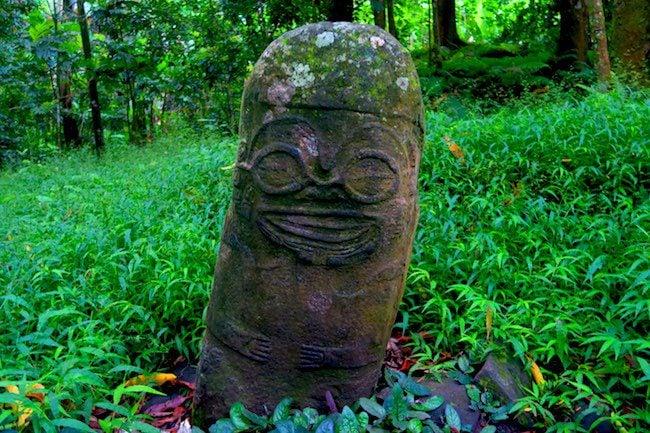Smiling Tiki Hiva Oa Marquesas Islands French Polynesia