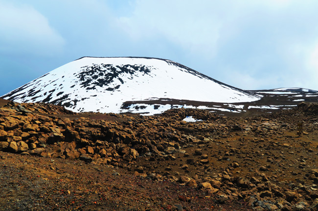 Snow on Mauna Kea Hike Big Island Hawaii
