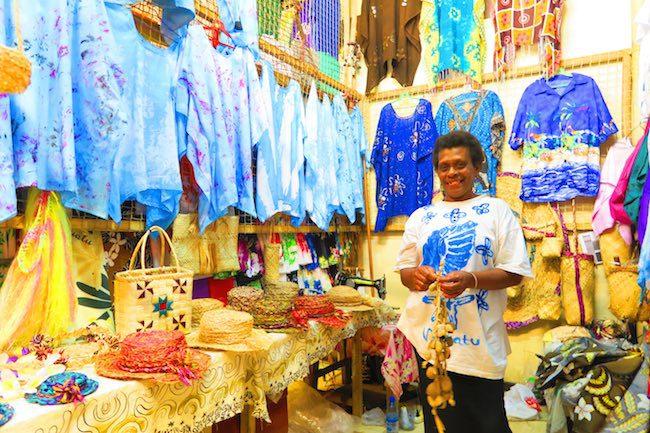 Souvenir Shopping At Hebrida Market Place - Port Vila, Vanuatu