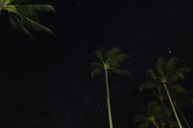 Stars at night in Molokai Hawaii - night sky
