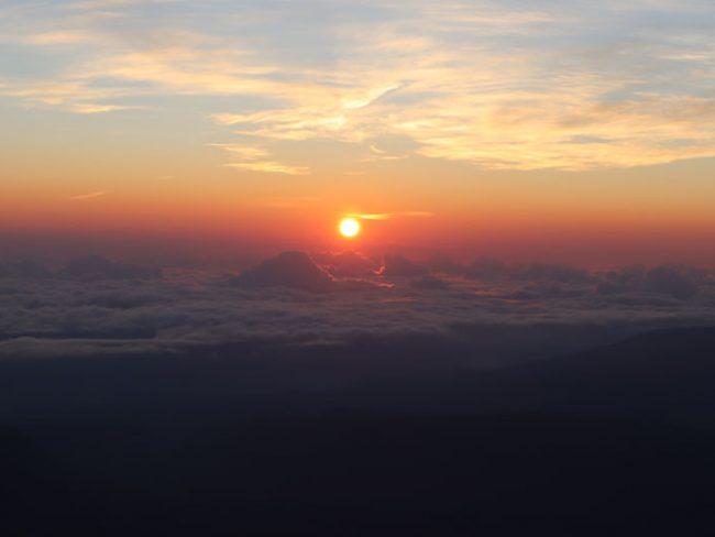 Sunrise Reunion Island from Piton des Neiges summit 3