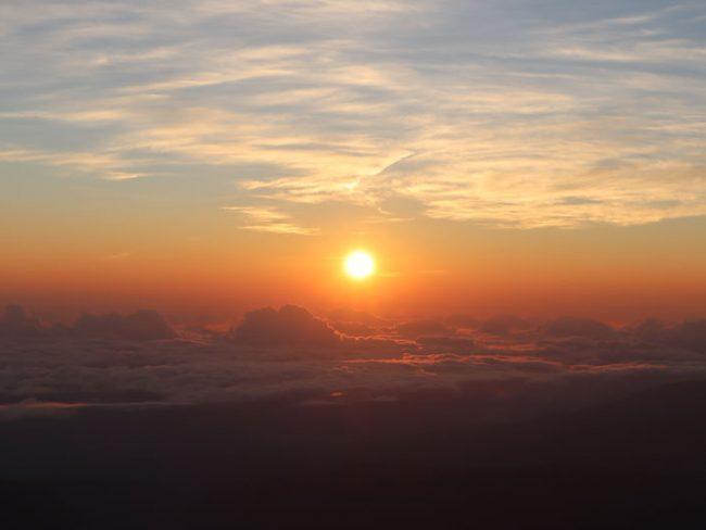 Sunrise Reunion Island from Piton des Neiges summit 4