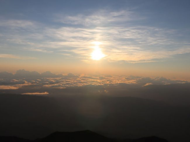 Sunrise Reunion Island from Piton des Neiges summit 5