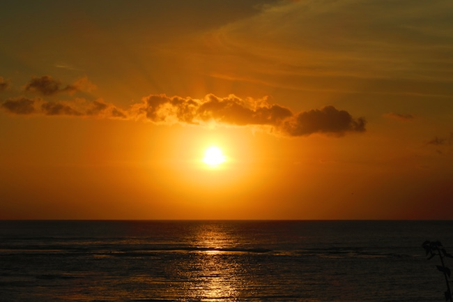 Sunset On Tanna Island Vanuatu