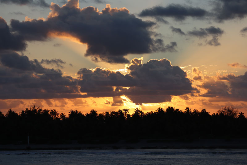 Sunset - Rangiroa Atoll French Polynesia