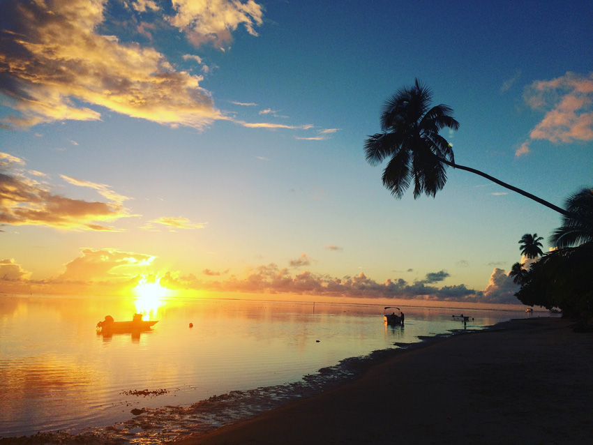 Sunset in Moorea - French Polynesia