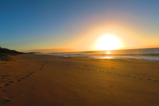 Sunset in Papohaku Beach - Molokai Hawaii