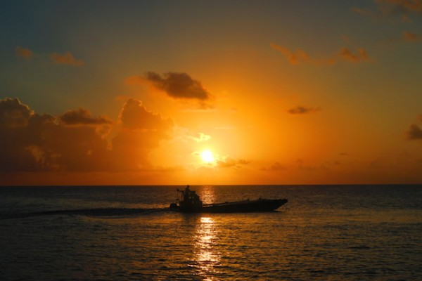 Sunset in Rangiroa French Polynesia