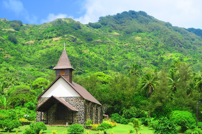 Taaoa Church Hiva Oa Marquesas Islands French Polynesia