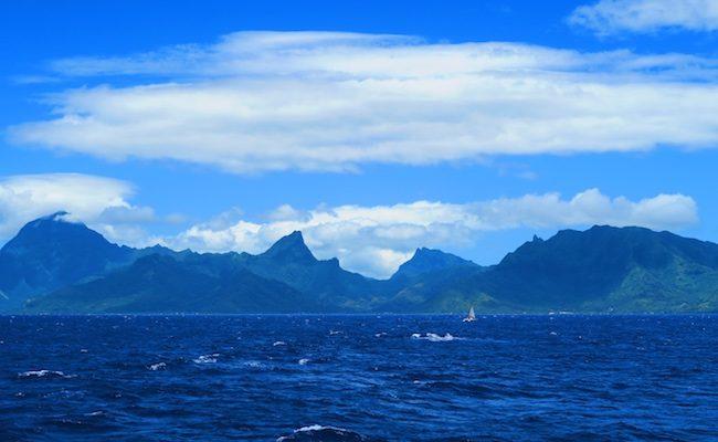 Tahiti to Moorea ferry panoramic view french polynesia