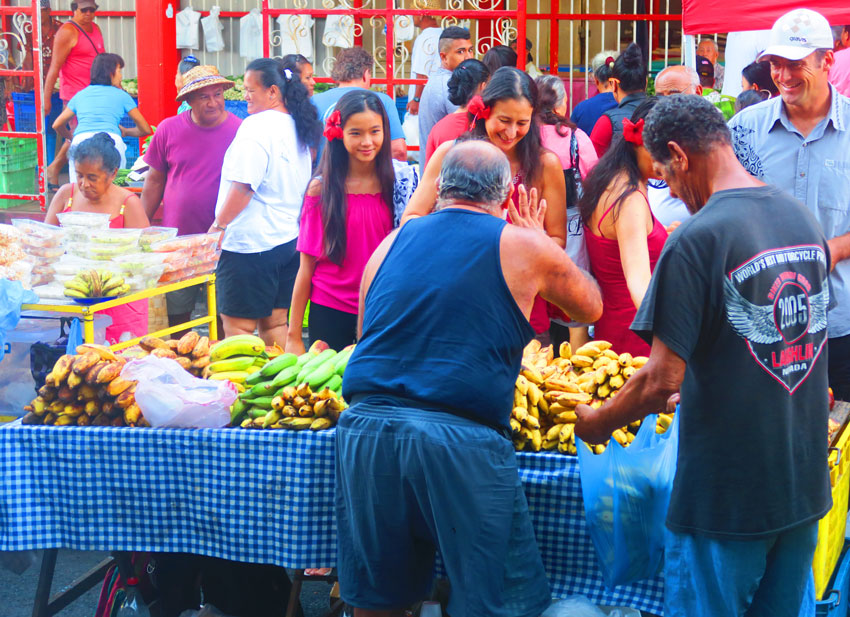 Tahitians in Sunday Market - Papeete - French Polynesia