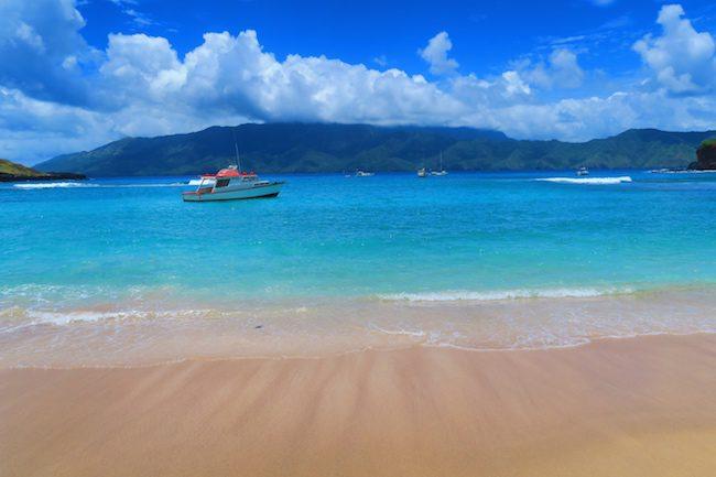 Tahuata Day Trip Hiva Oa Marquesas Islands French Polynesia Hanamoenoa Beach blue