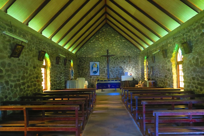Tahuata Day Trip Hiva Oa Marquesas Islands French Polynesia Hapatoni village church interior