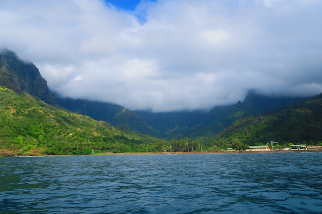 Tahuata Day Trip Hiva Oa Marquesas Islands French Polynesia view of Atuona