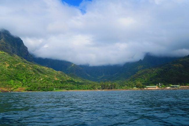 Tahuata Day Trip Hiva Oa Marquesas Islands French Polynesia view of Atuona