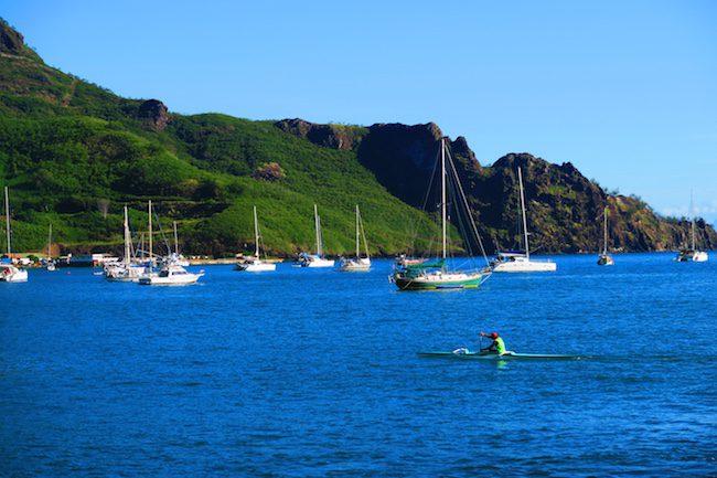 Taiohae Village Bay Nuku Hiva Marquesas Islands French Polynesia
