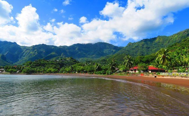 Taiohae Village beach Nuku Hiva Marquesas Islands French Polynesia